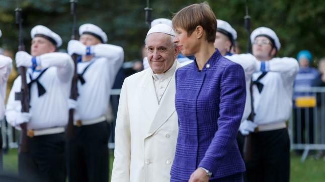 Kersti Kaljulaid ja paavst Franciscus