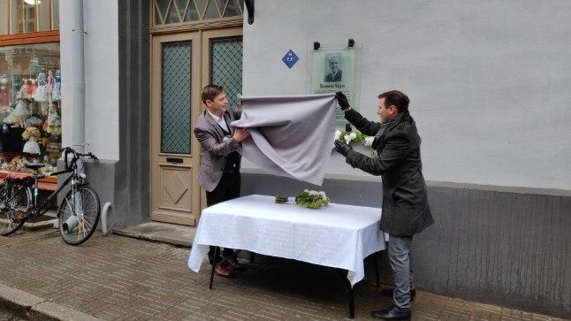Raimond Valgre mälestustahvli avamine