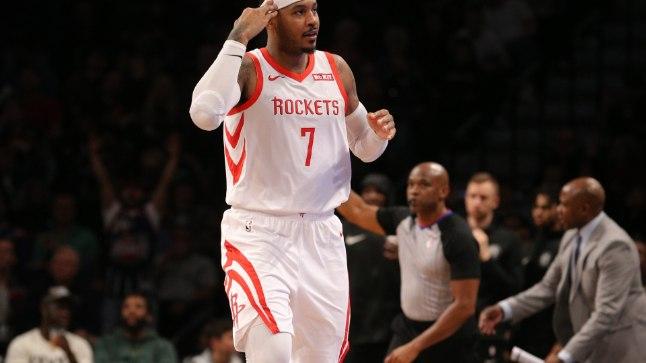 Tiimikaaslased on kindlad: Carmelo Anthony enam Rocketsis ei mängi