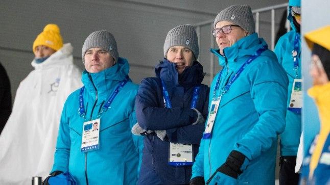 Kersti Kaljulaid käis olümpiamängudel laskesuusatamist vaatamas.