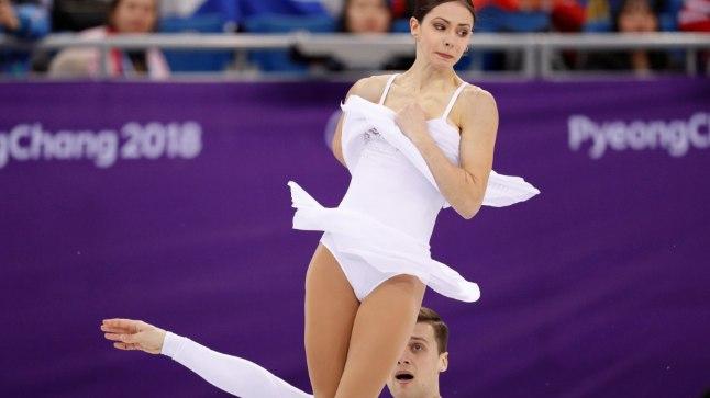 Natalja Zabijako ja Aleksander Enbert Pyeongchangi olümpial.