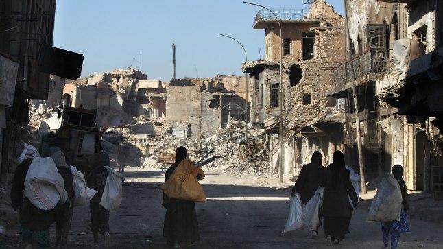 Sõjas purustatud Mosul.