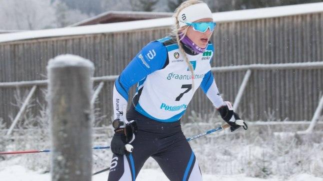 Anette Veerpalu Eesti meistrivõistlustel.