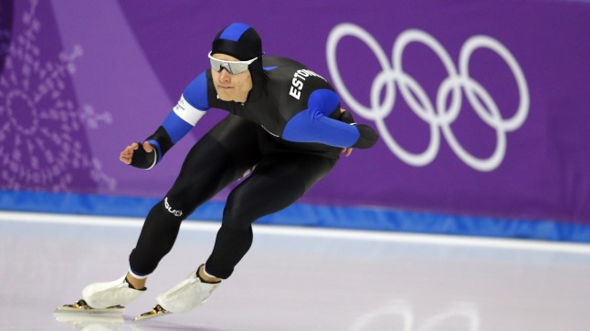 Marten Liiv Gangneungi olümpiajääl.