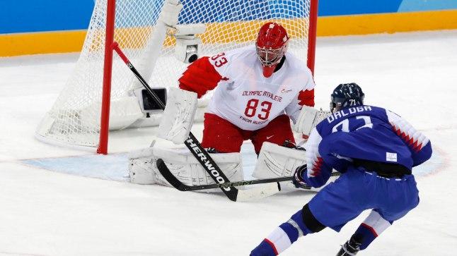 Slovakkia (sinises) avas turniiri väärt võiduga.