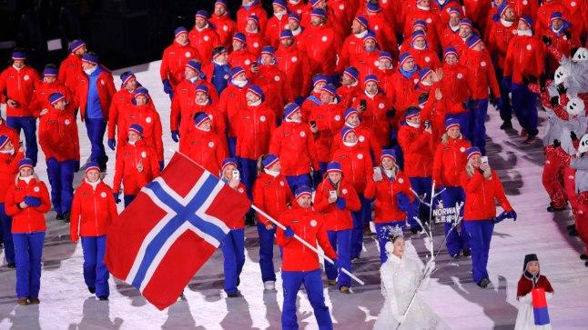 Norra olümpiakoondis Pyeongchangi mängude avatseremoonial.