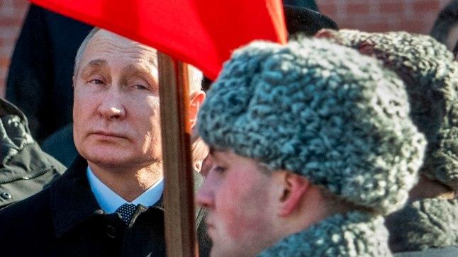 Vene president Vladimir Putin 23. veebruaril 2018 Moskvas kodumaa kaitsja päeva tähistamas