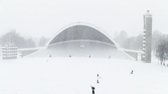 Lauluväljak, lumesadu, lumi, talv