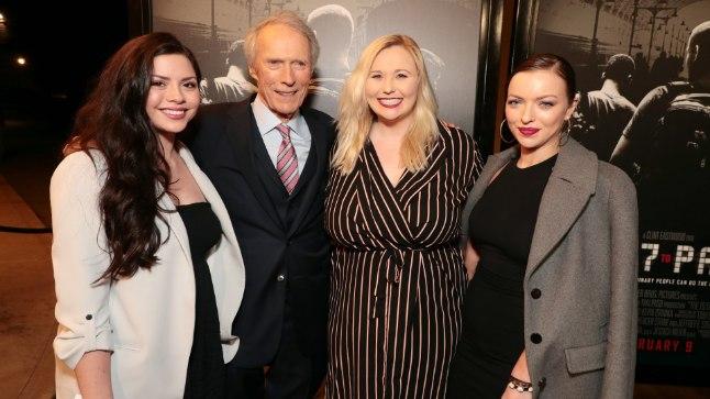 KOOS TÜTARDEGA: Morgan Eastwood, Clint Eastwood, Kathryn Eastwood ja Francesca Eastwood