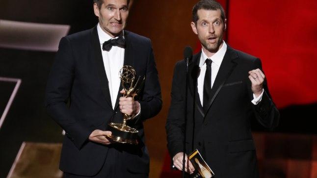 David Benioff (vasakul) ja DB Weiss
