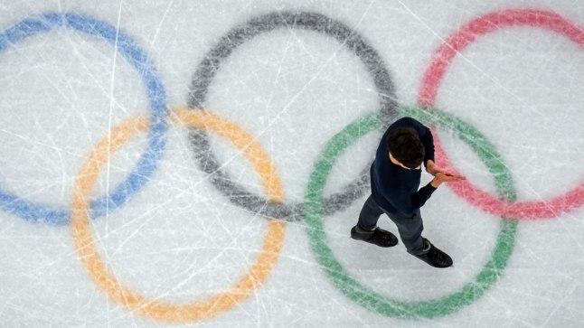 Olümpiarõngad jääl.