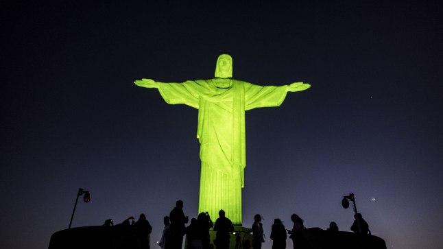 Brasiilia kuulsaim skulptuur saab Eesti sünnipäeval sinimustvalged värvid