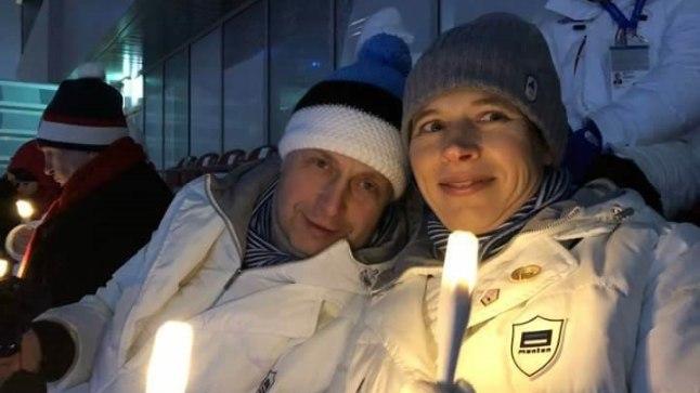 Kersti Kaljulaid koos abikaasa Georgi-Rene Maksimovskiga.