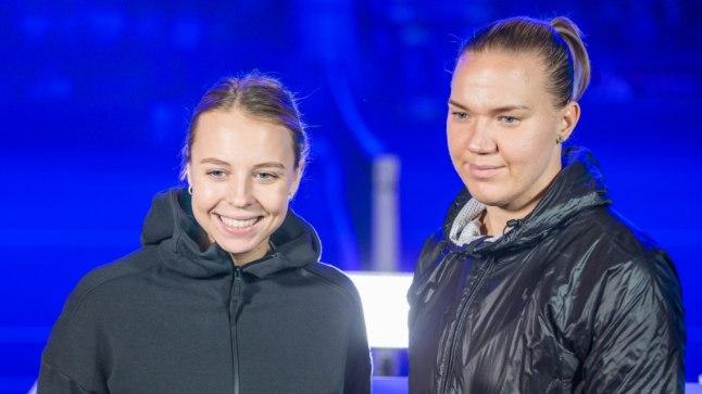 Anett Kontaveit (vasakul) ja Kaia Kanepi