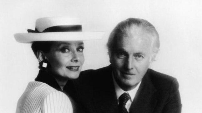 Юбер де Живанши со своей музой Одри Хепберн в 1986