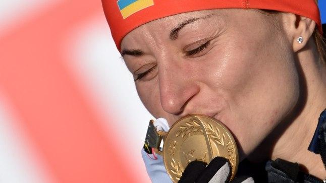 Ukraina laskesuusataja Valja Semerenko.