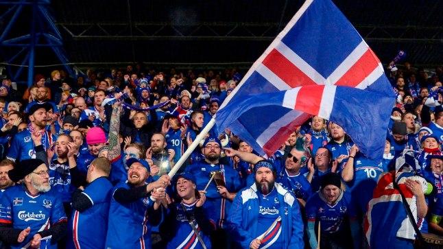 Islandi jalgpallifännid.