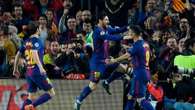 Lionel Messi tähistab oma karjääi 99. Meistrite liiga väravat.