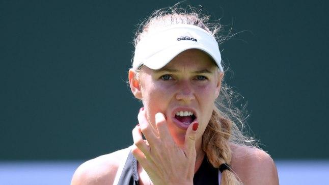 Mängu käik muutis Caroline Wozniacki mõtlikuks.