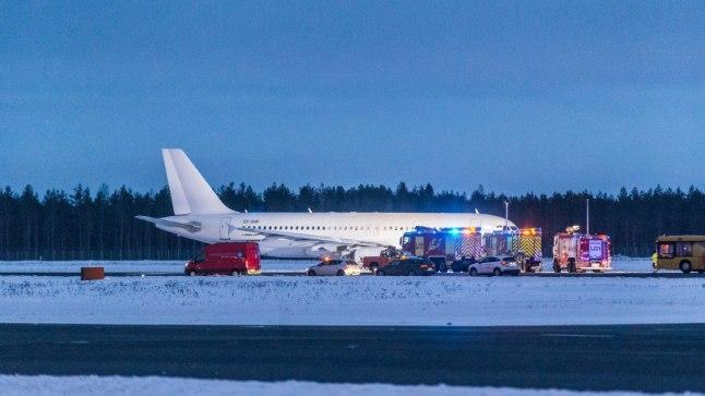 Smartlynxi lennuki hädamaandumine Tallinnas.