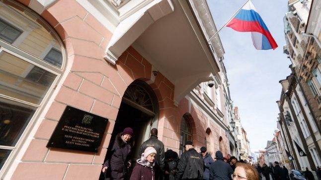 Смотри, как граждане России голосовали в Таллинне на выборах президента