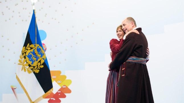 EV100 presidendi vastuvõtt: Georgi-René Maksimovski ja Kersti Kaljulaid.