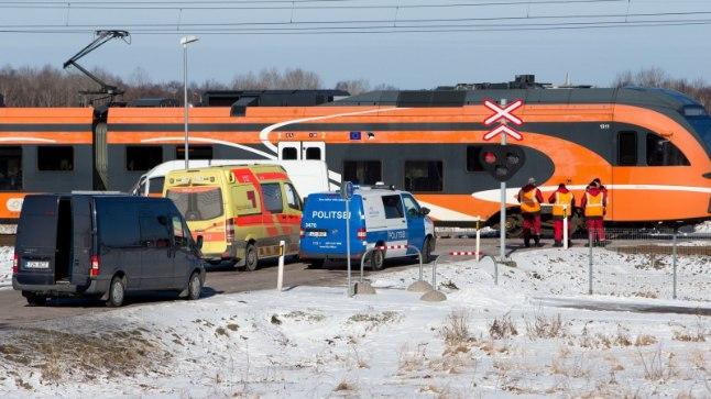 Rongiõnnetus Sauel. Pilt on ilustreeriv.