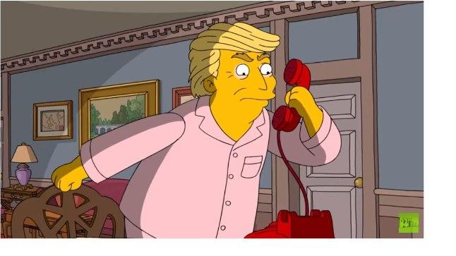 "Donald Trump ""Simpsonites"" Vladimir Putinile helistamas."