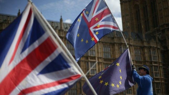 BREXITI VASTU: Londonis näeb parlamendihoone juures endiselt üksikuid aktiviste, kes soovivad Ühendkuningriigi jäämist Euroopa Liitu.