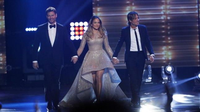 "Harry Connick Jr., Jennifer Lopez ja Keith Urban saates ""American Idol"""