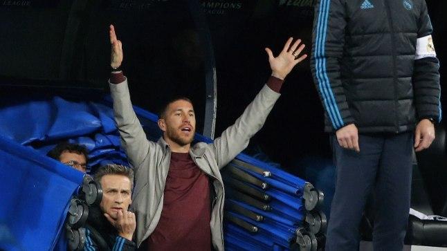 Sergio Ramos mängijate tunnelis.