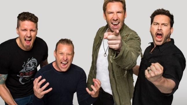 Nickelback. Vasakult: Daniel Adair, Mike Kroeger, Chad Kroeger, Ryan Peake