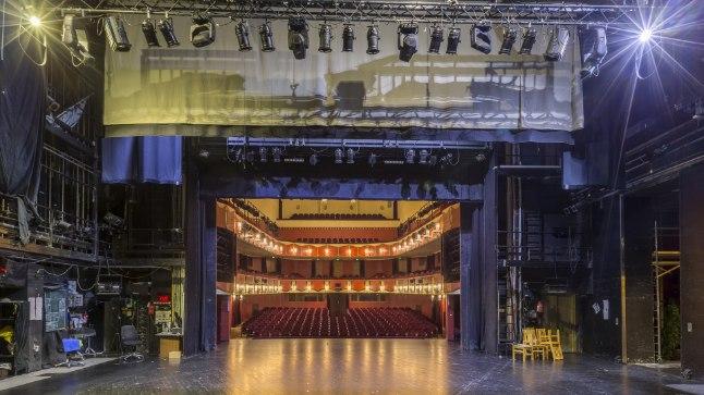 """Draamateatri suur saal  Istekohti: 431  Viimane remont: 2004, kui vahetati välja kogu lavatehnika.  Iseärasused: Draamateater on Eesti vanim säilinud spetsiaalselt teatriks ehitatud hoone. Suures saalis on ainus klassikaline Itaalia lava Tallinnas.  Kuulsamad esinejad: teater Kabuki for Everyone, Moskva Taganka teatri trupi liikmed, Lensoveti-nimelise teatri lavastuses """"Oskar ja Roosamamma"""" üles astunud Alissa Freindlihh."""