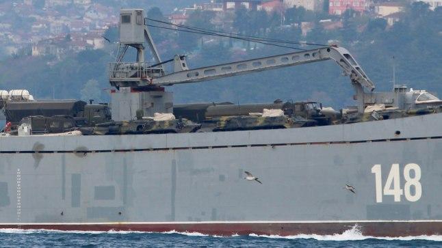 Türgi rannikult märgatud Vene sõjalaev 15. aprillil
