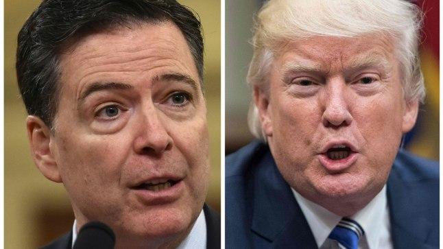 KARM HINNANG: Mullu mais FBI direktori kohalt vallandatud James Comey (vasakul) leiab, et Donald Trump on USA presidendiks moraalselt sobimatu.