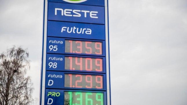 Kütusehind esmaspäeva hommikul.