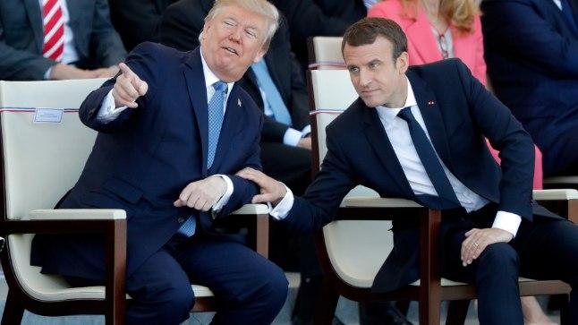 Macron väidab, et pidi Trumpi lausa tagasi hoidma