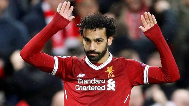 KÄED ÜLES: Mo Salah oma endise koduklubi Roma vastu löödud tähtsaid väravaid suurejooneliselt ei tähistanud.