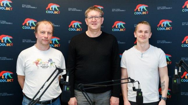 """""""Viienda veerandaja"""" tänane kolmik: Ville Arike (vasakult), Heino Enden, Jarmo Jagomägi."""
