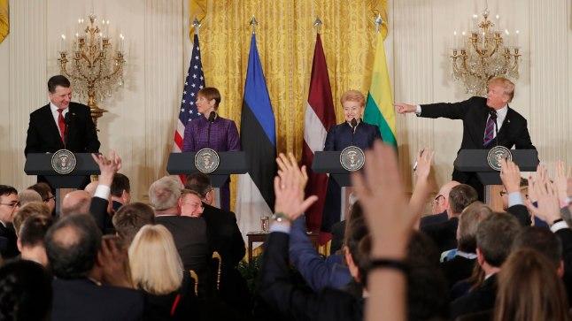 Balti riikide presidendid ja Donald Trump sel nädalal Washingtonis.