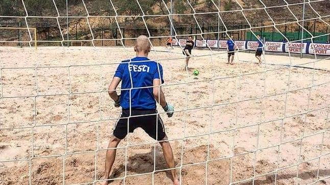 Rannajalgpallikoondise trenn Hispaanias.
