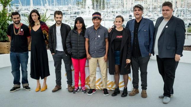 """71. Cannes filmifestival.Brasiilia filmi """"The Dead And The Others"""" festivalilinastuse-eelne pildistamine."""