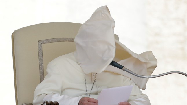 Paavst Franciscus ja tuul 16. mail