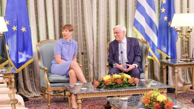 President Kersti Kaljulaid ja Prokópis Pavlópoulos