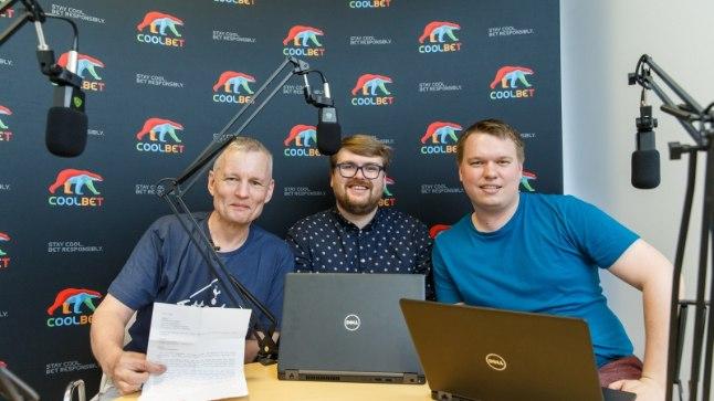 Indrek Schwede, Siim Kera ja Karl Juhkami Õhtulehe stuudios.