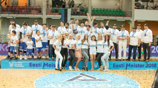 MEISTRID: Kalev/Cramo võitis klubi ajaloo 10. Eesti meistritiitli