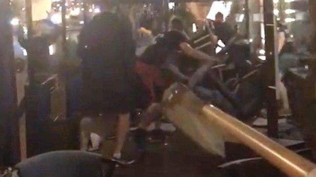 Vägivald ühes Kiievi restoranis.
