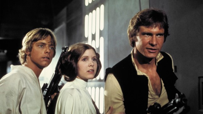 Luke, Leia ja Han.