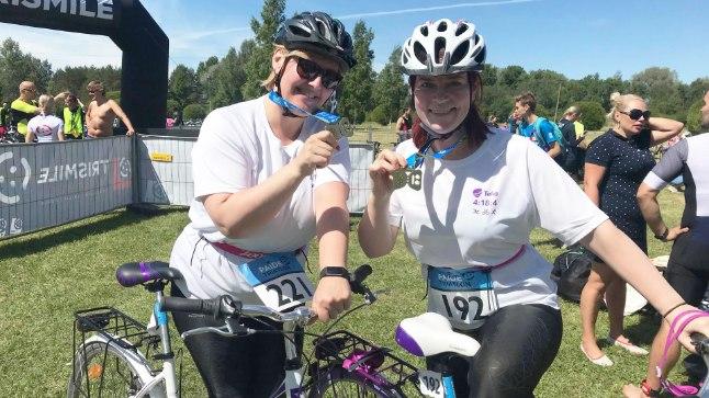 Annely Adermann ja Kaire Vilgats Paide triatlonil