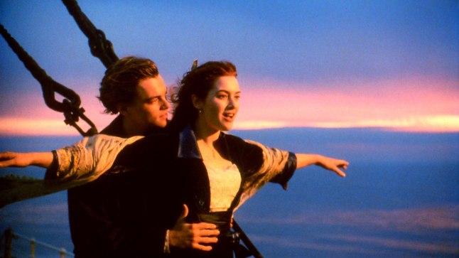 "Leonardo DiCaprio ja Kate Winslet ""Titanicus"""